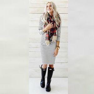 NWOT Sonnet James Reese White Stripe Play Dress